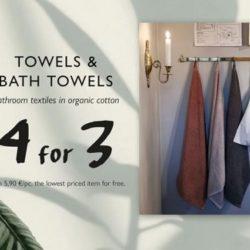 (Granit) Kylpyhuoneen pyyhkeet ota 4 maksa 3! Ei koske tarjoustuotteita.