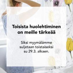 (Vallila) Tällä aikaa verkkokauppamme palvelee osoitteessa www.vallila.fi