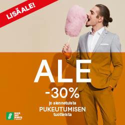 (Sokos) LISÄALE -30% jo alennetuista pukeutumisen tuotteista