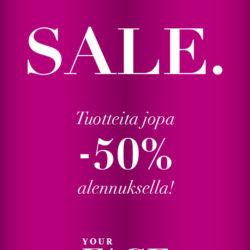 (Your Face) Kesäalessa paljon tuotteita jopa -50% alennuksella!