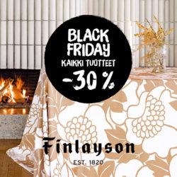 (Finlayson) Black Friday jatkuu ma 30.11. saakka! -30 % norm hintaisista…