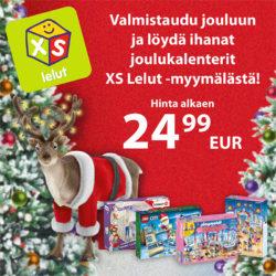 (XS Lelut) Ihanat joulukalenterit!