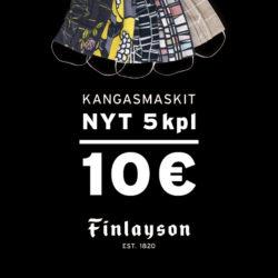 (Finlayson) Finlayson Valkea tarjoaa: 5 kangasmaskia 10 €! Tervetuloa…