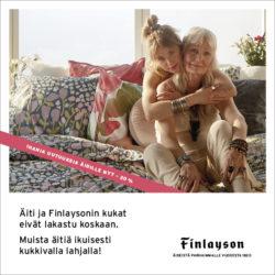 (Finlayson) Muista Äitiä ylellisillä kukkivilla tekstiileillä! Tarjous…