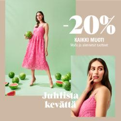 (Sokos) Kaikki pukeutumisen tuotteet -20% Voimassa 10.-16.5.