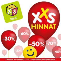 (XS Lelut) XXS Hinnat- kampanja on alkanut! Tule tutustumaan myymälään koko…
