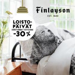 (Finlayson) Loistopäivät Valkean Finlaysonilla! Suosituimmat tuotteet -30 %…