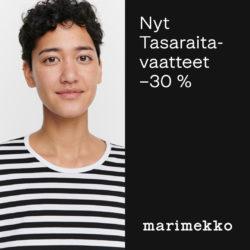 (Marimekko) Kaikki Tasaraita-vaatteet -30 % Etu voimassa 26.9. asti