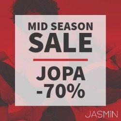 (Jasmin) Mid Season Sale alkoi myymälässä Alennukset -30% jopa -70%