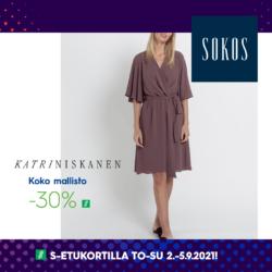 (Sokos) Pimeitä hintoja naisten osastolla Katri Niskanen mallisto -30%…