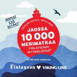 (Finlayson) Jaossa merimatkoja Finlaysonilla! Saat Viking Line-lahjakortin, kun…