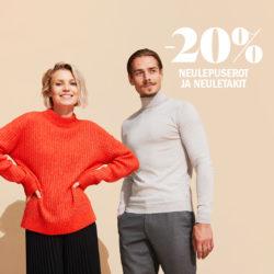 (Sokos) miesten ja naisten neulepuserot ja neule -20% S-Etukortilla…